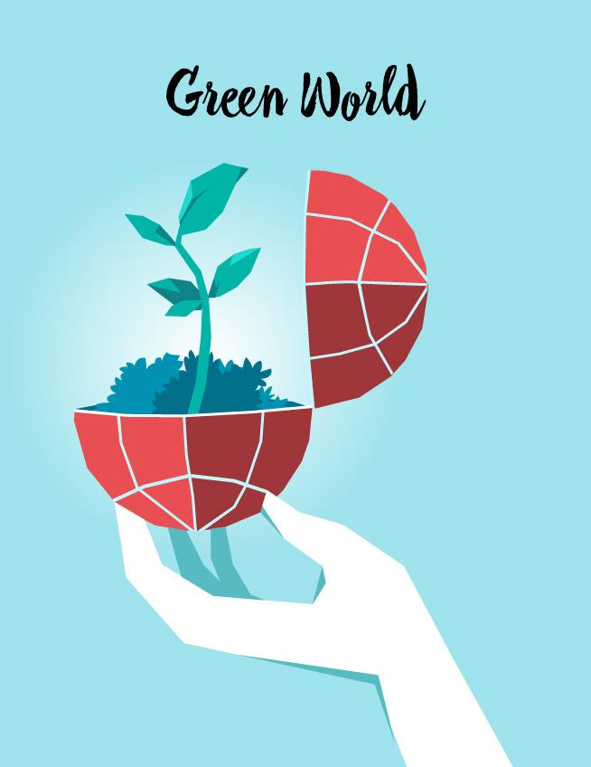 Green World – Speed Vector Art
