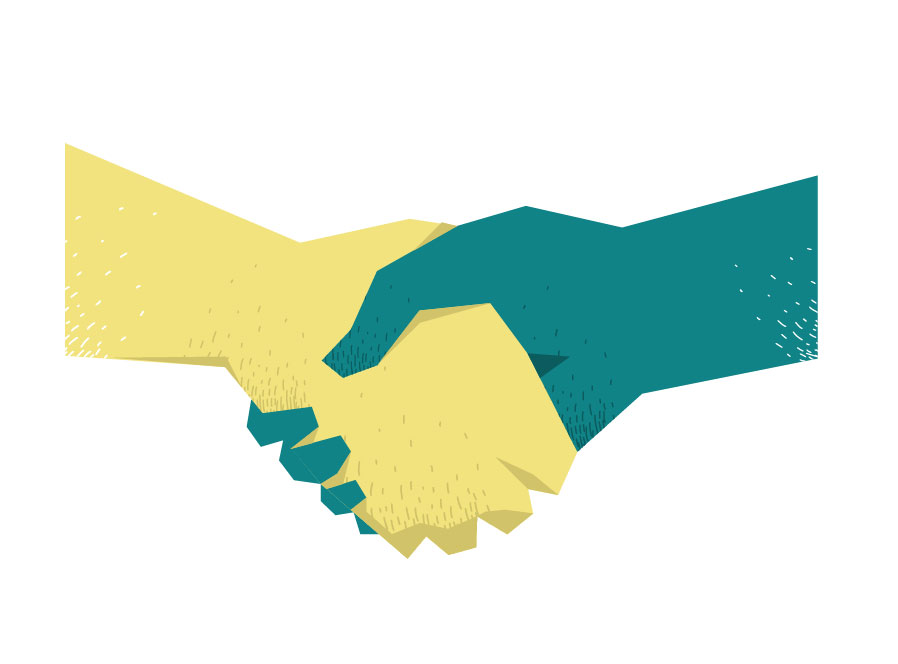 Shake the Hand free vector art