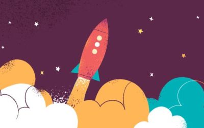 Rocket Launch Free Vector Art