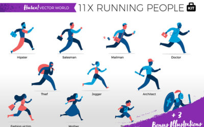 Running People Vector World