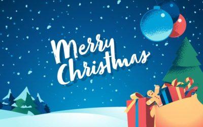 Merry Christmas Card Free Vector