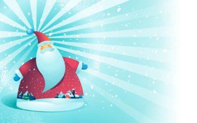 Santa Greetings Free Vector
