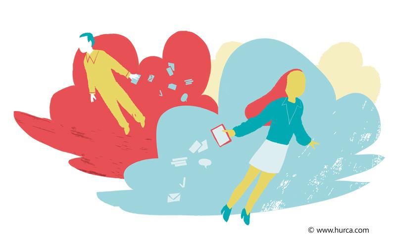 Cloud Business Illustration