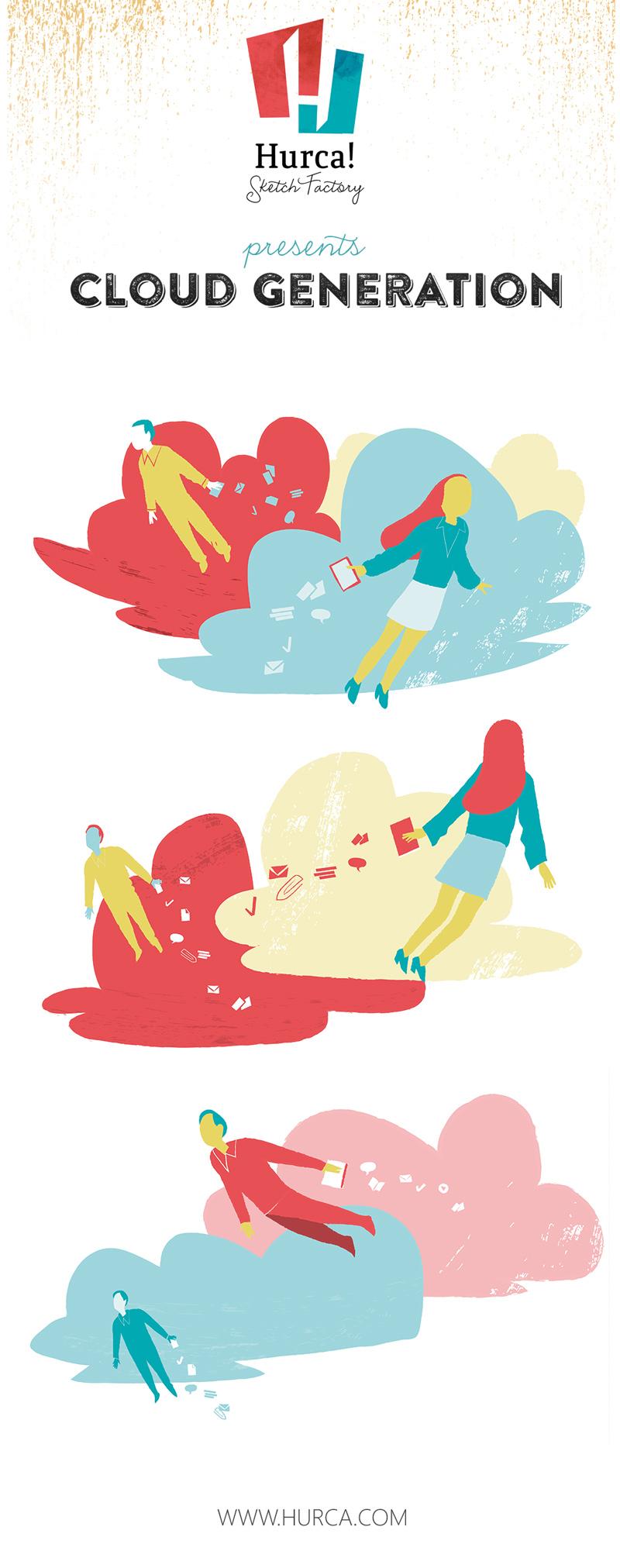 Cloud Generation Series Illustration