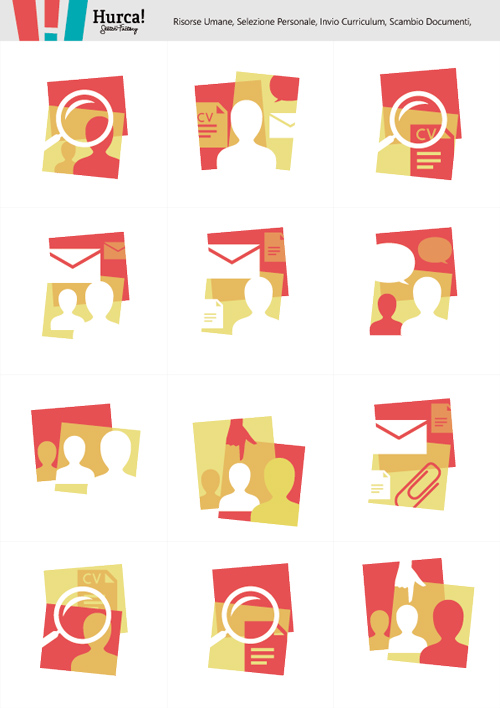 Human resources icons set