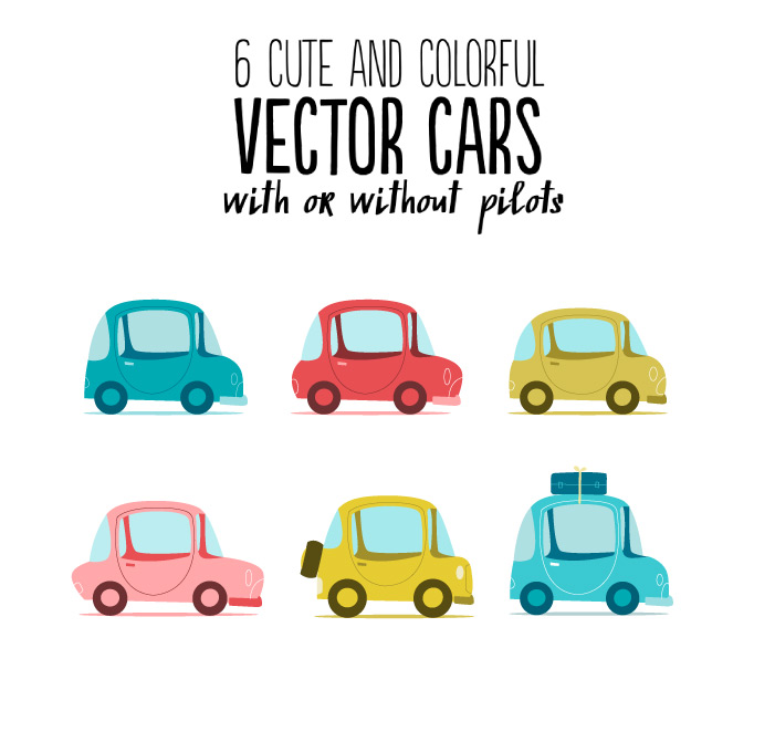 6 Cute Colorful Cars