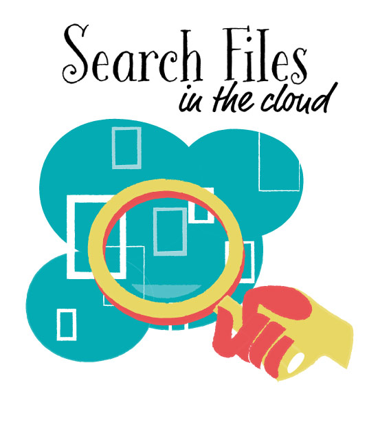Search Files in the Cloud vector art for download