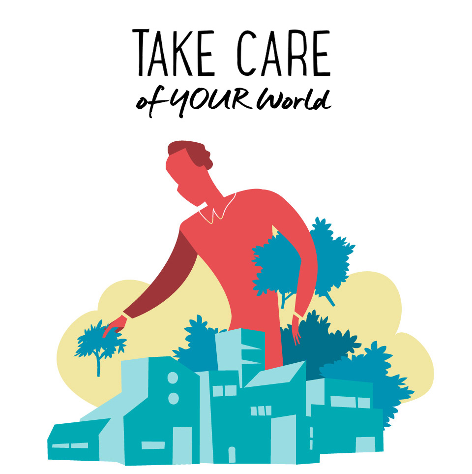 Take Care of Your World Vector illustration by Hurca!