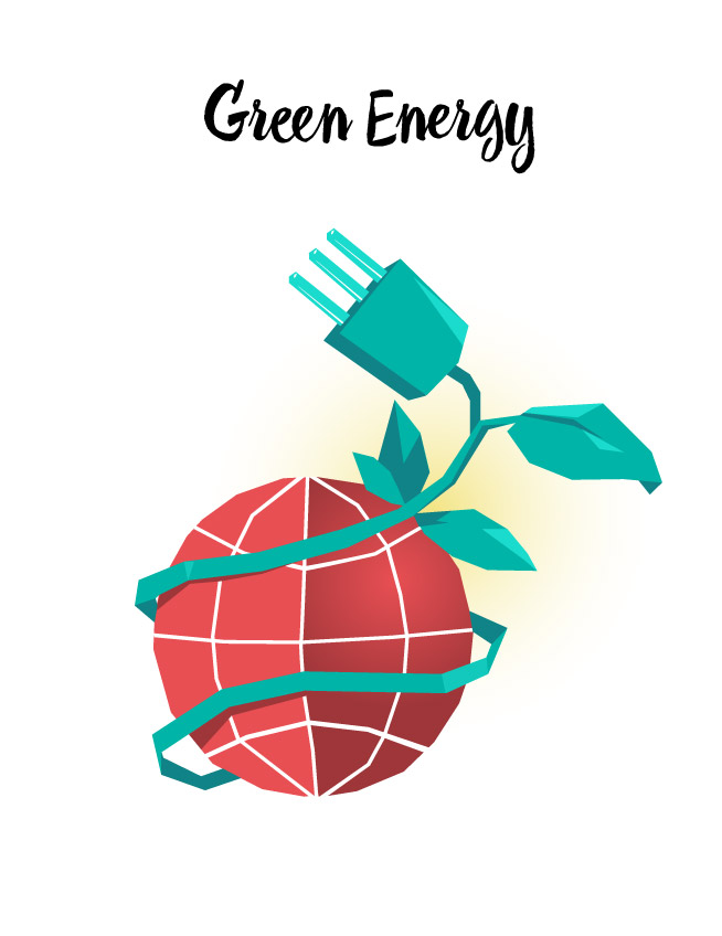 Green Energy vector art available for download on Hurca.com