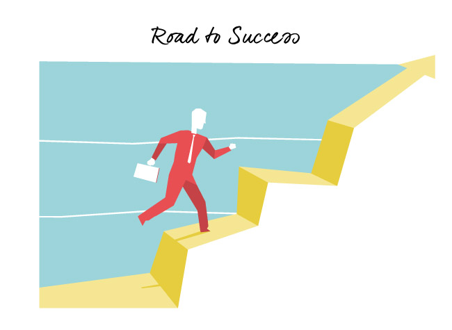 Download Road to Success vector art
