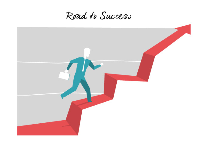 Speed Vector Art – Road to Success