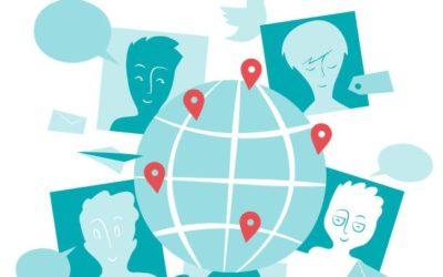Social Media Network Free Vector art