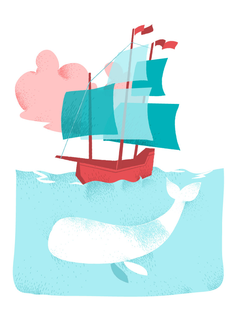 Moby Dick vector art by Hurca.com