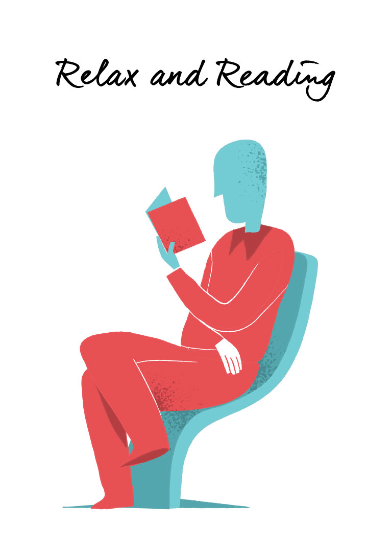 Relax and Reading vector Art by Hurca.com