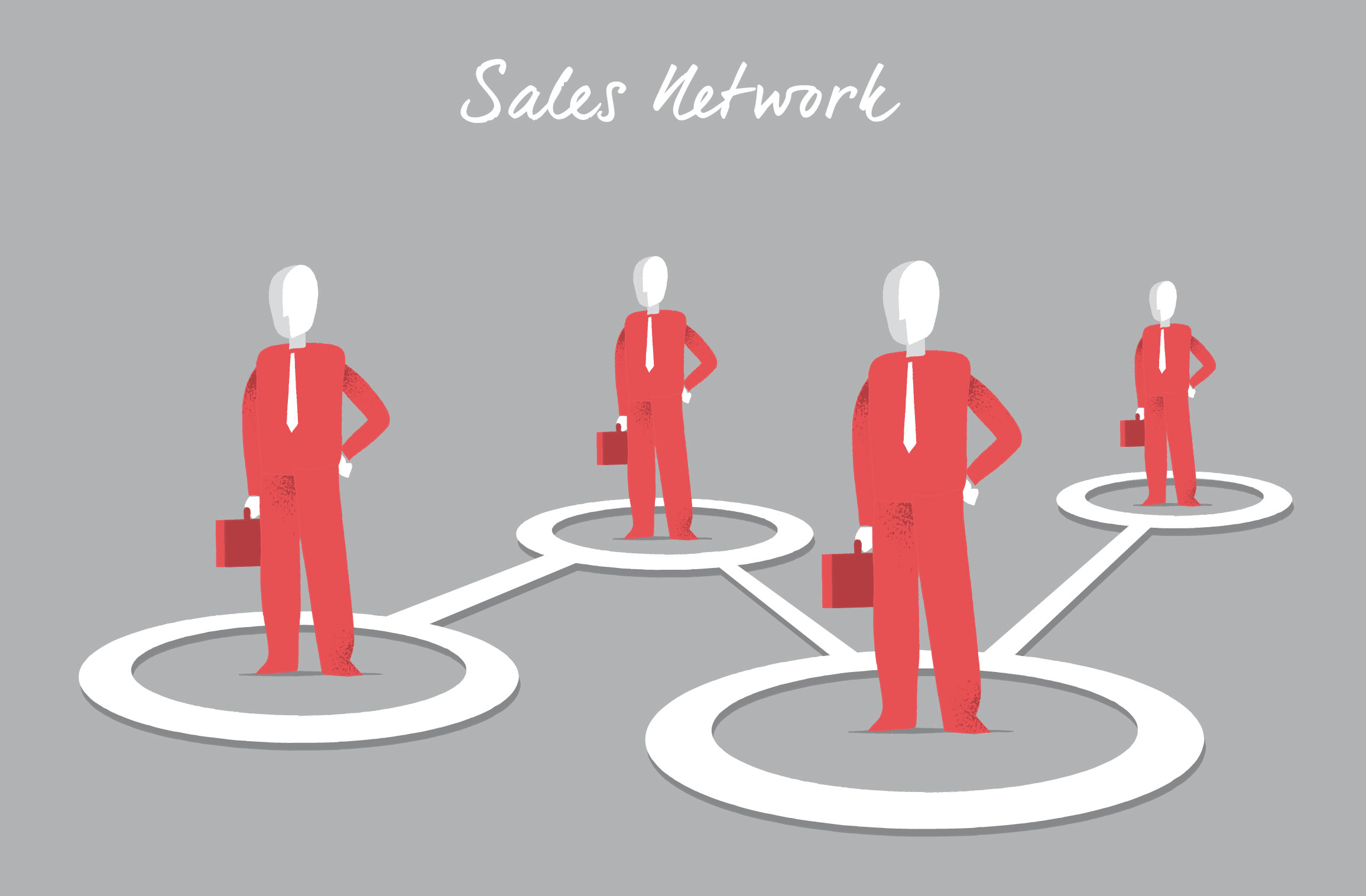Sales Network vector art series by Hurca.com