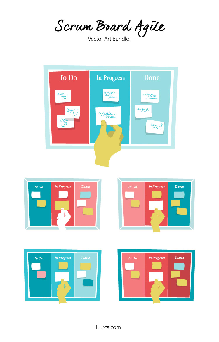 Scrum Board Agile vector bundle