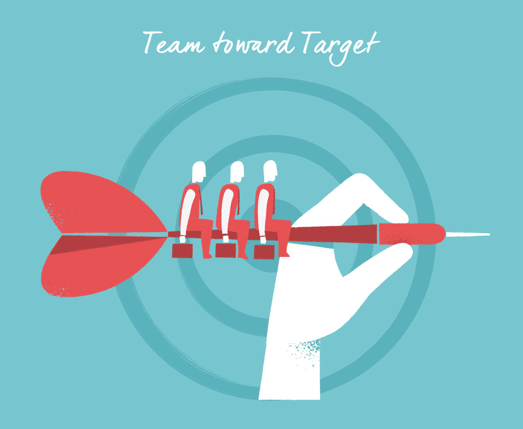 Team Toward Target vector art available for download