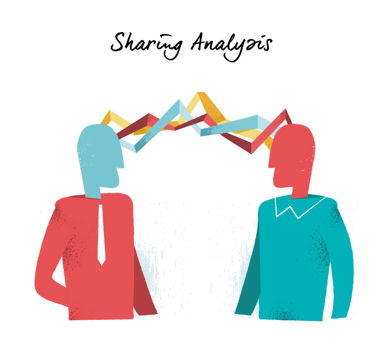 Sharing Analysis vector art series available for download on Hurca.com