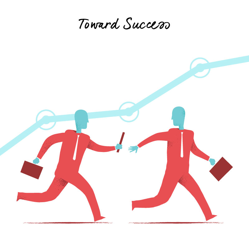 Download Toward Success vector art series by Hurca.com