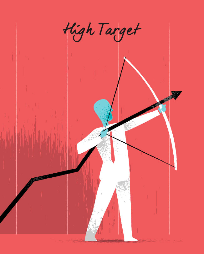 Aim High vector art for download by Hurca.com