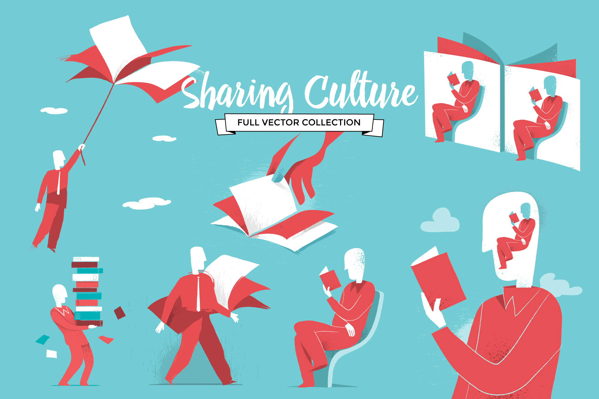 Sharing culture vector series