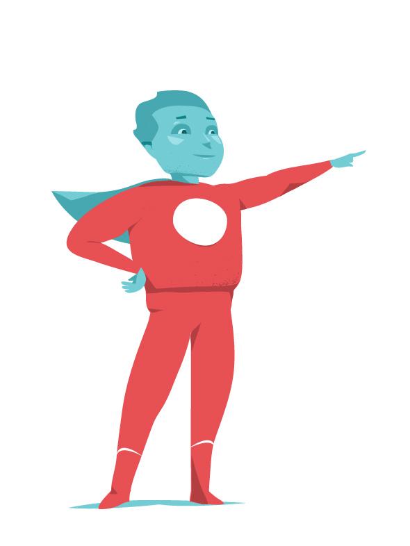 Superhero testimonial
