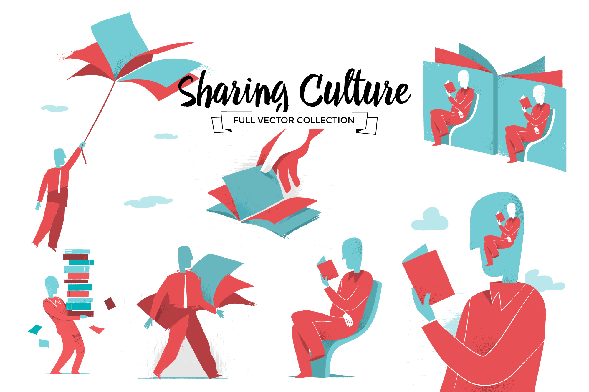 Sharing culture Vector Collection