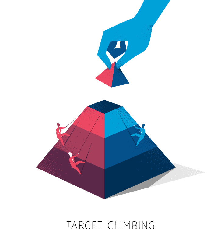 Climb Business Pyramid Steps