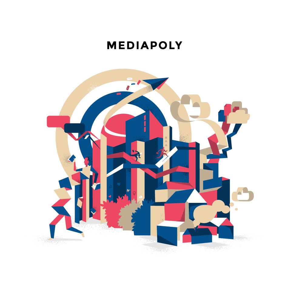 Mediapoly Vector Illustration
