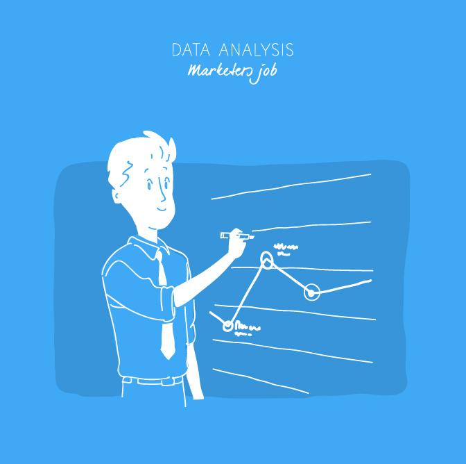 Download Trend Analysis Report Vector Art