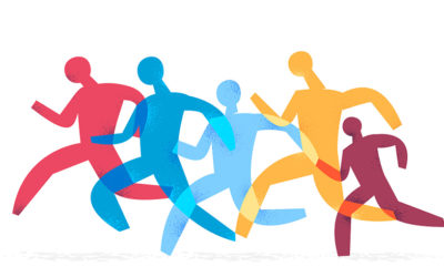 Running People Vector Art