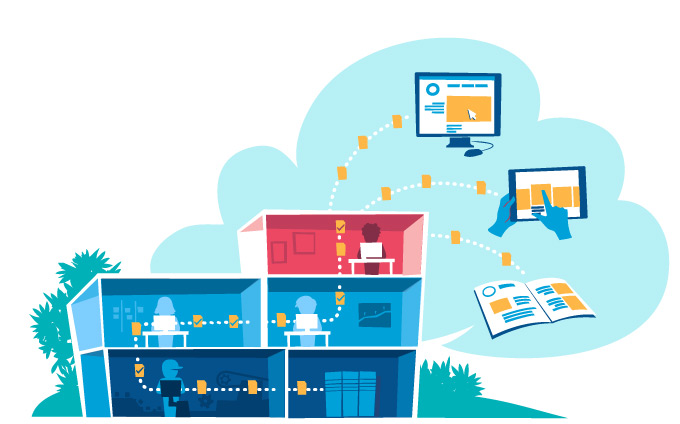 Download Company Workflow Process Vector Art by Hurca.com