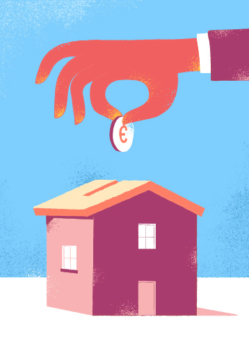 Download Save Money to Buy House Vector Art by Hurca.com