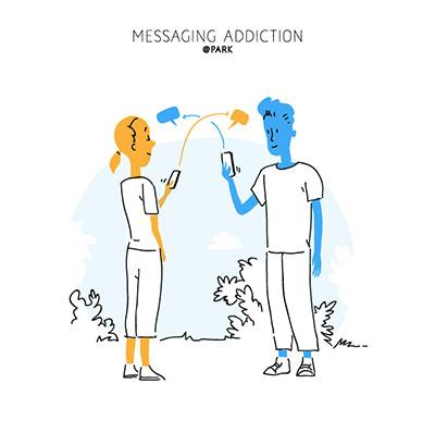 Messaging Addiction Lifestyle
