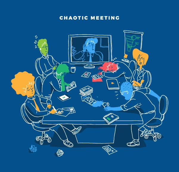 Download Chaotic Meeting Series Vector Art