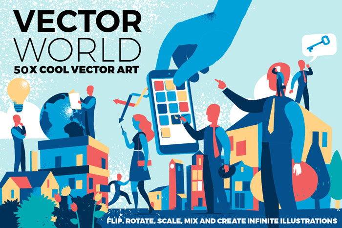 Vector World Starter Kit to create illustrations by yourself