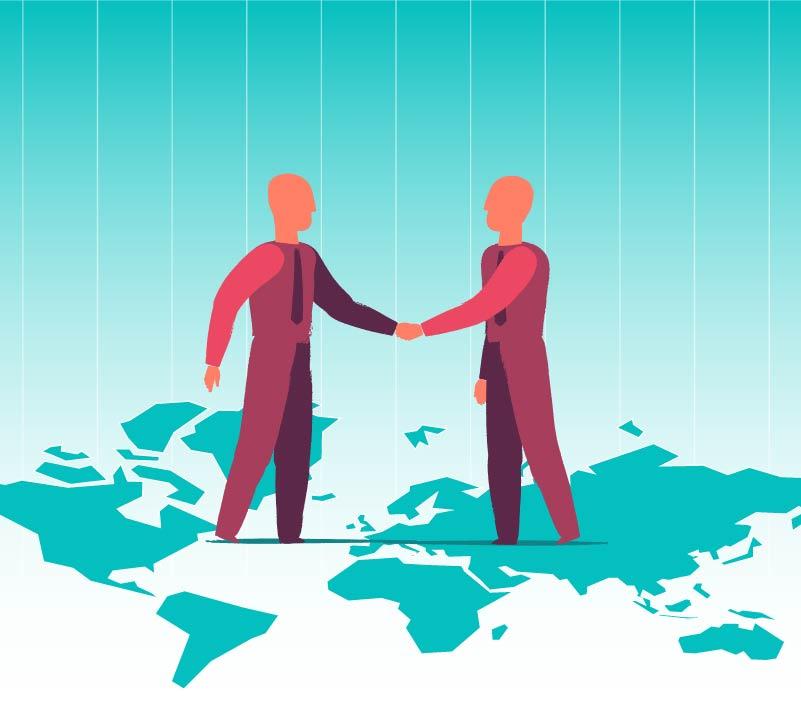 Free Download International Agreement Vector Art Illustrations