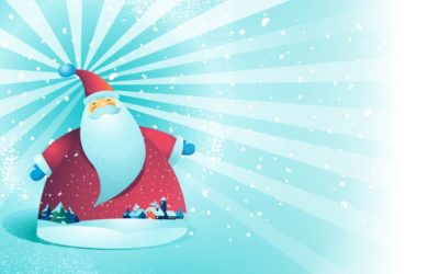 Santa Greetings Free Vector