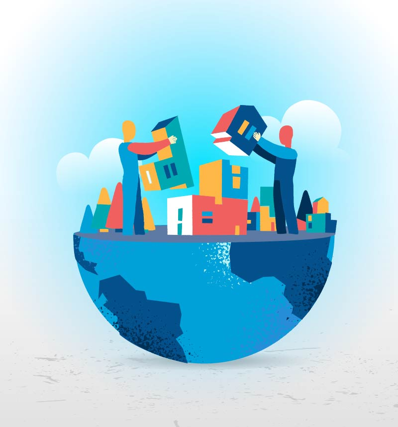 Download Building Our Planet, Illustration by Mirko Grisendi