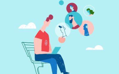Remote Working Free Illustration