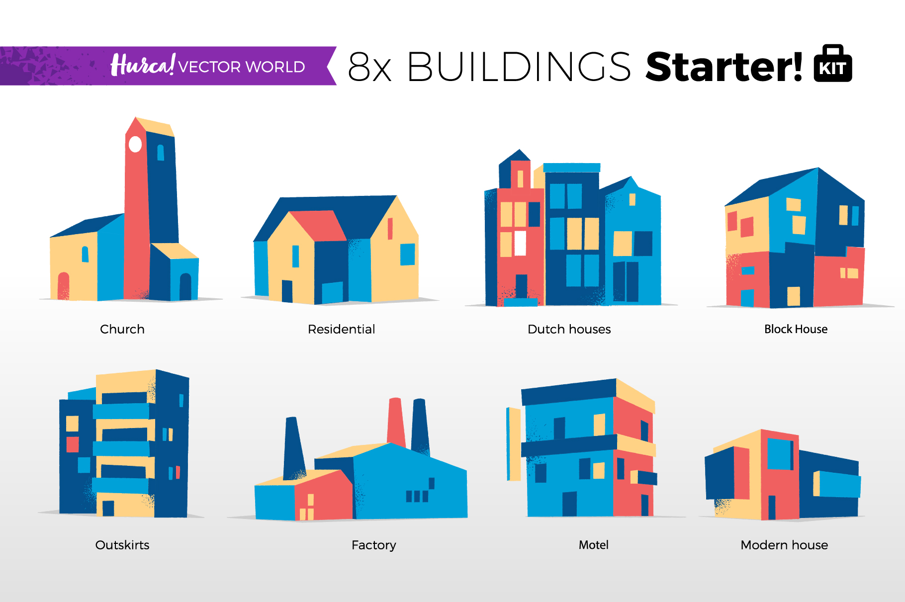 Vector World Buildings Set