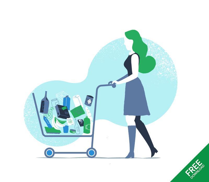 Free Download Full Cart Illustration by Mirko Grisendi
