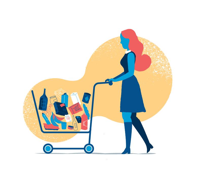 Download Full Cart Illustration by Mirko Grisendi