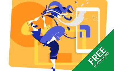UX Designer Dance Free Vector Illustration