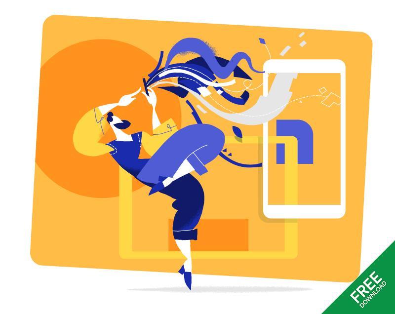 Ux designer vector illustration