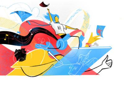 Monello illustration design