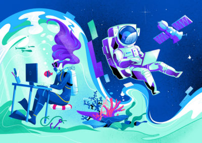 Work Anywhere illustration by Mirko Grisendi