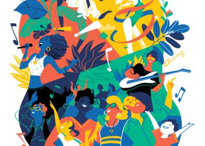 Come Together Vector Illustration