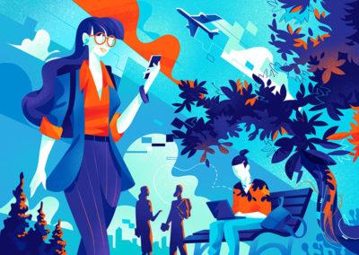 Safe Digital Lifestyle illustration