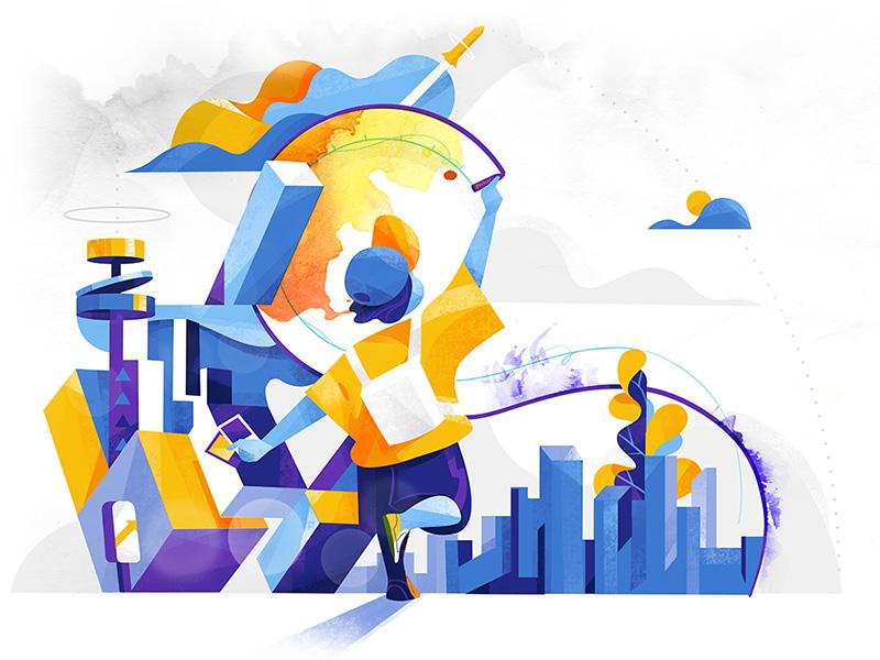 Design your own future illustration